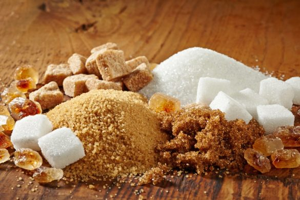 Různé druhy cukru