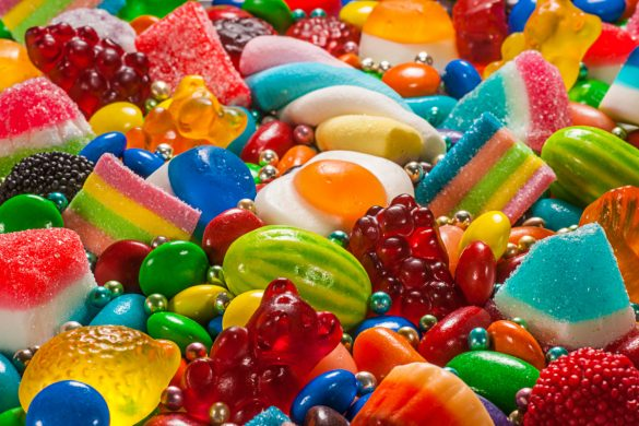 Želé bonbony plné cukru
