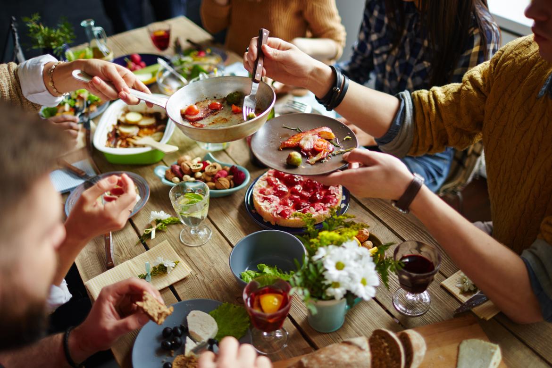 Jídlo s přáteli