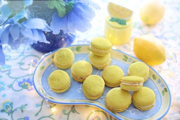 Citronové makronky