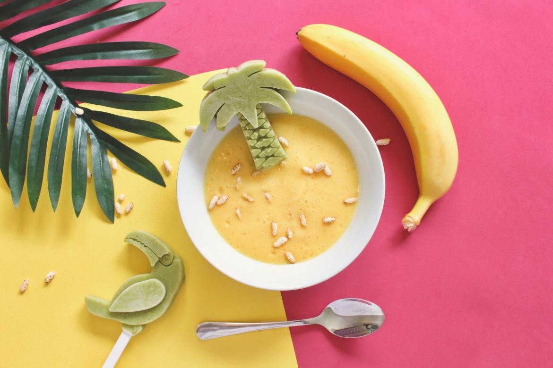 Mangovo-bananove smoothie